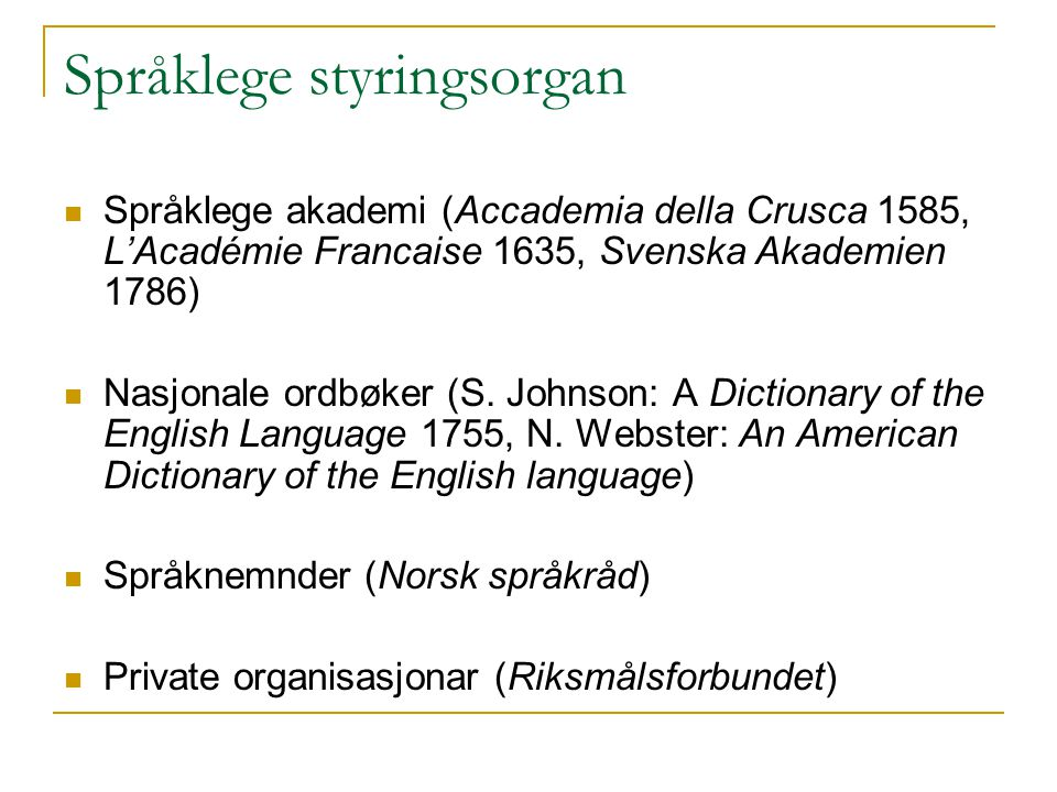 Språklege styringsorgan