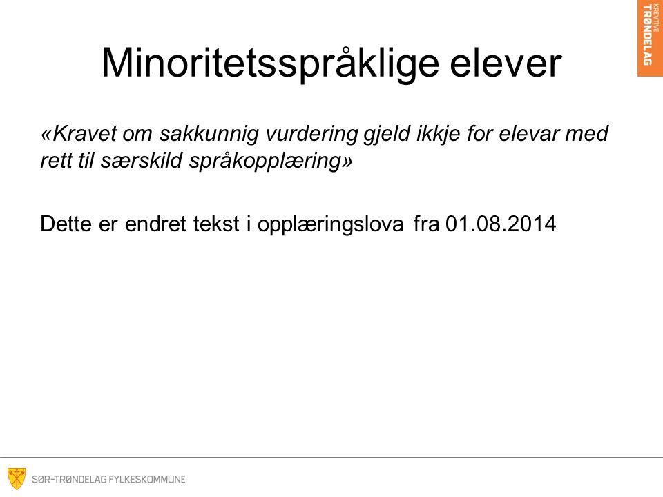 Minoritetsspråklige elever