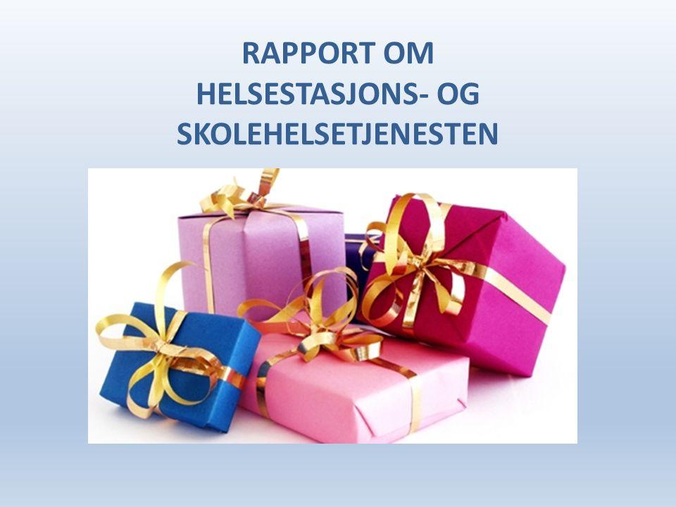 RAPPORT OM HELSESTASJONS- OG SKOLEHELSETJENESTEN