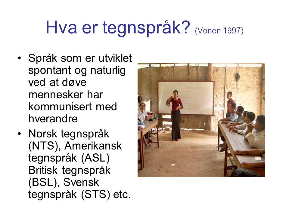 Hva er tegnspråk (Vonen 1997)