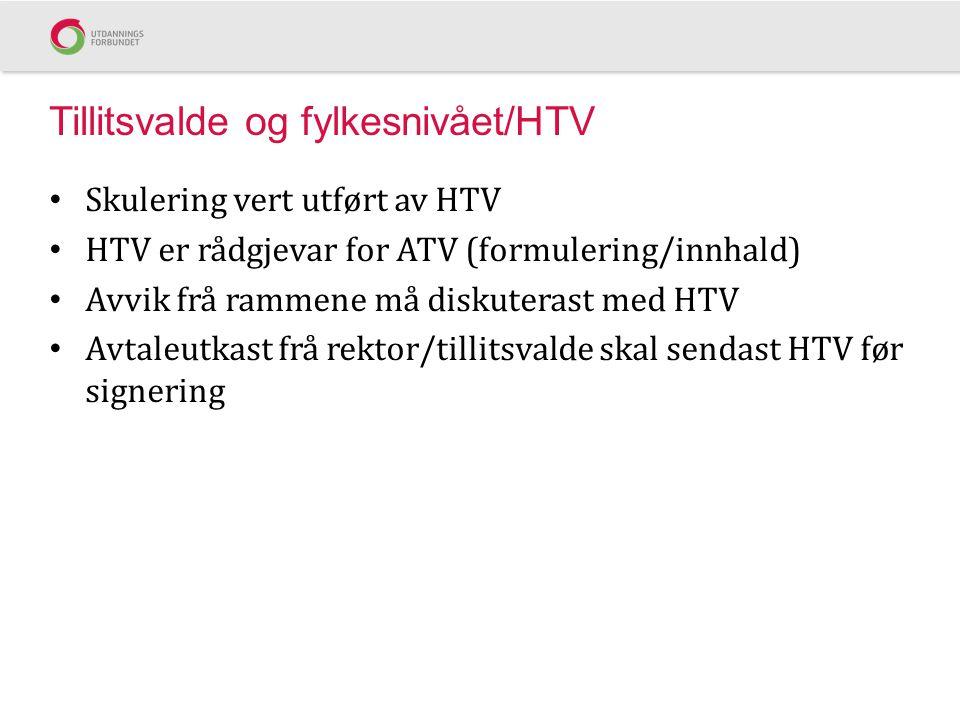 Tillitsvalde og fylkesnivået/HTV