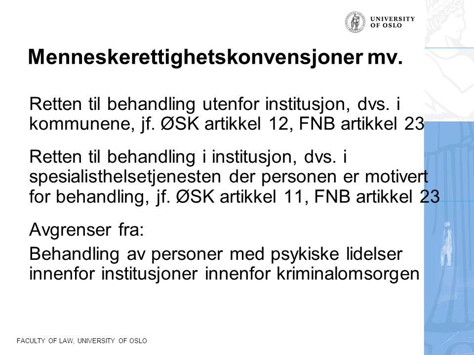 Menneskerettighetskonvensjoner mv.