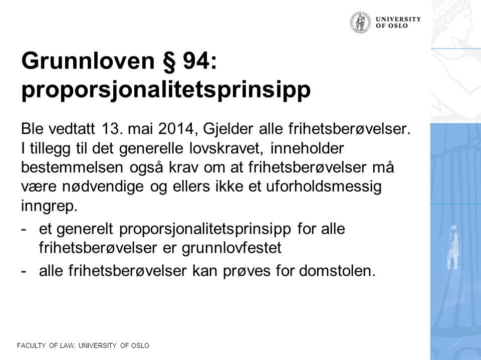 Grunnloven § 94: proporsjonalitetsprinsipp