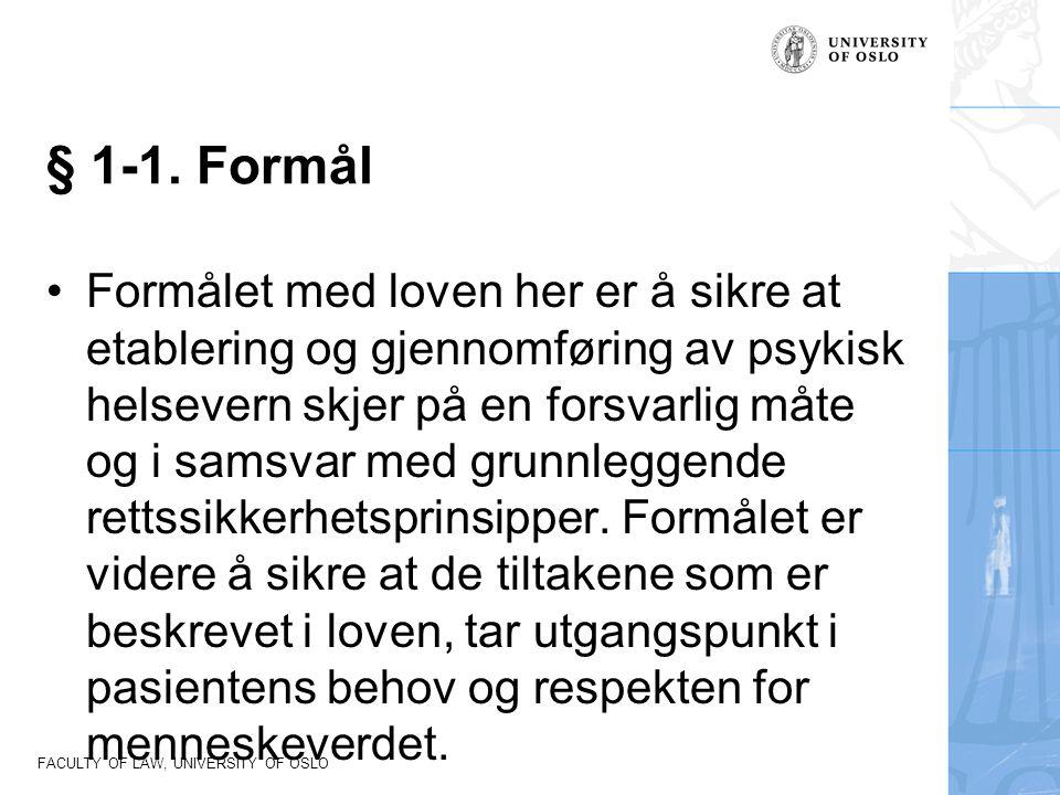 § 1-1. Formål