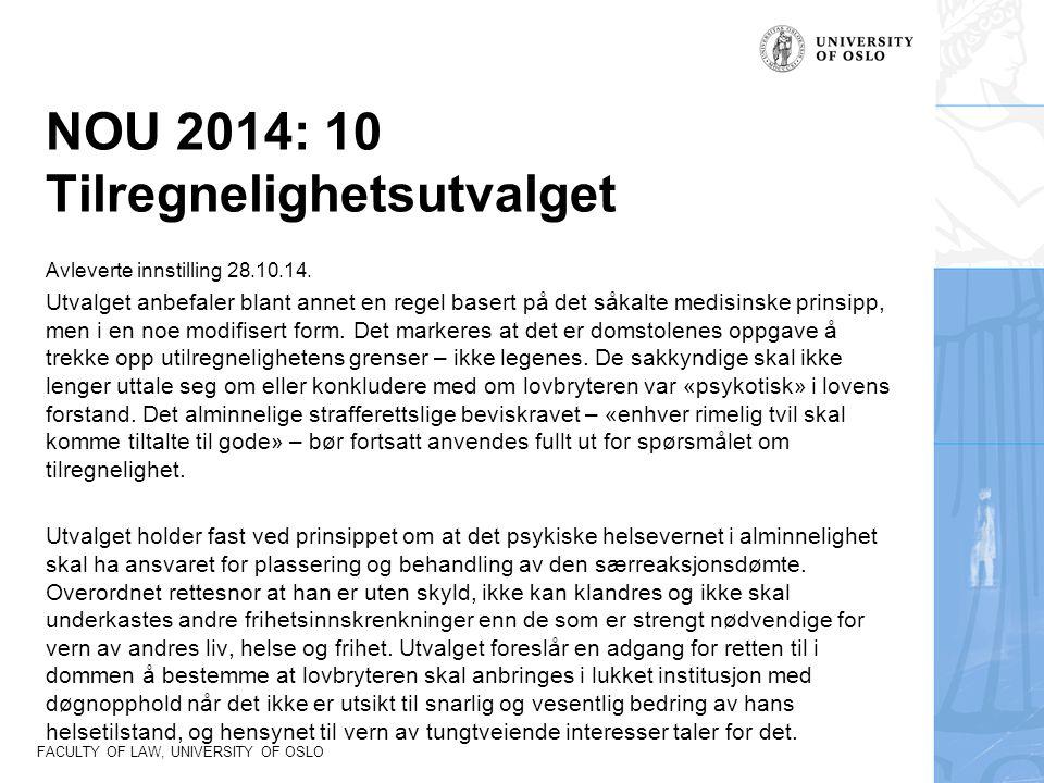 NOU 2014: 10 Tilregnelighetsutvalget