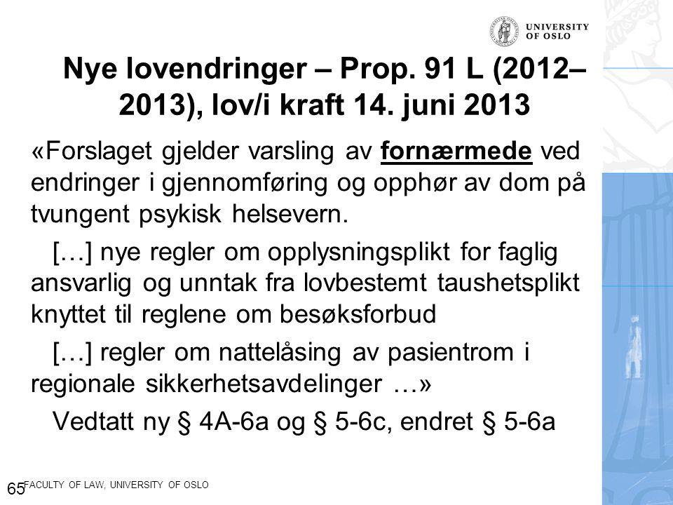 Nye lovendringer – Prop. 91 L (2012–2013), lov/i kraft 14. juni 2013