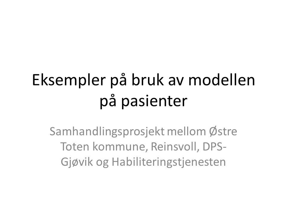 Eksempler på bruk av modellen på pasienter