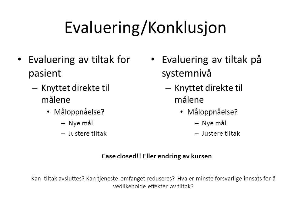 Evaluering/Konklusjon