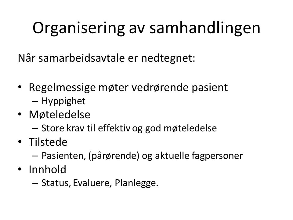 Organisering av samhandlingen