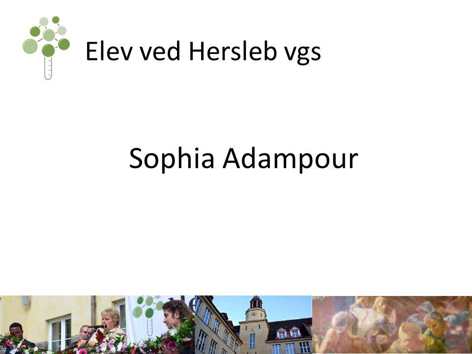 Elev ved Hersleb vgs Sophia Adampour