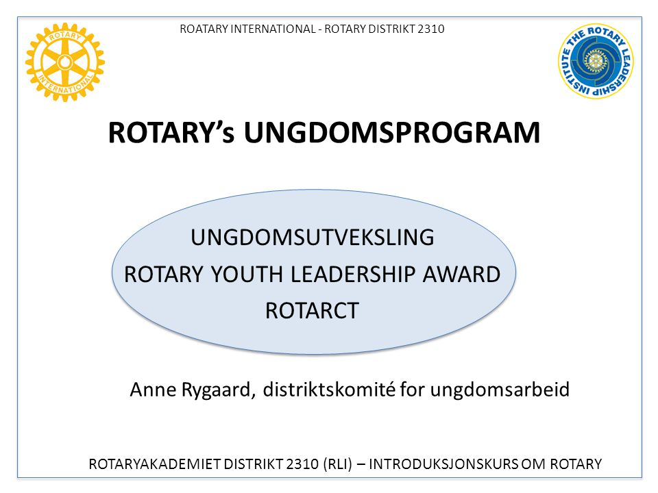 ROTARY's UNGDOMSPROGRAM