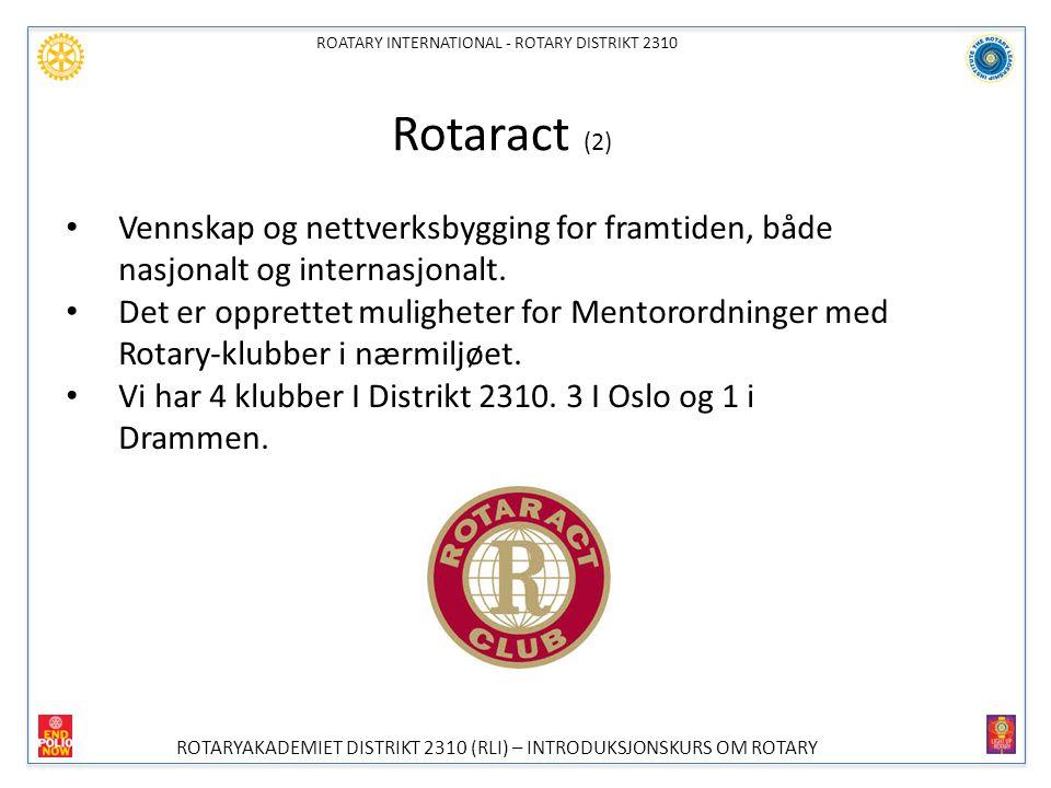 ROATARY INTERNATIONAL - ROTARY DISTRIKT 2310