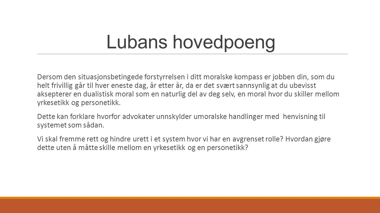 Lubans hovedpoeng