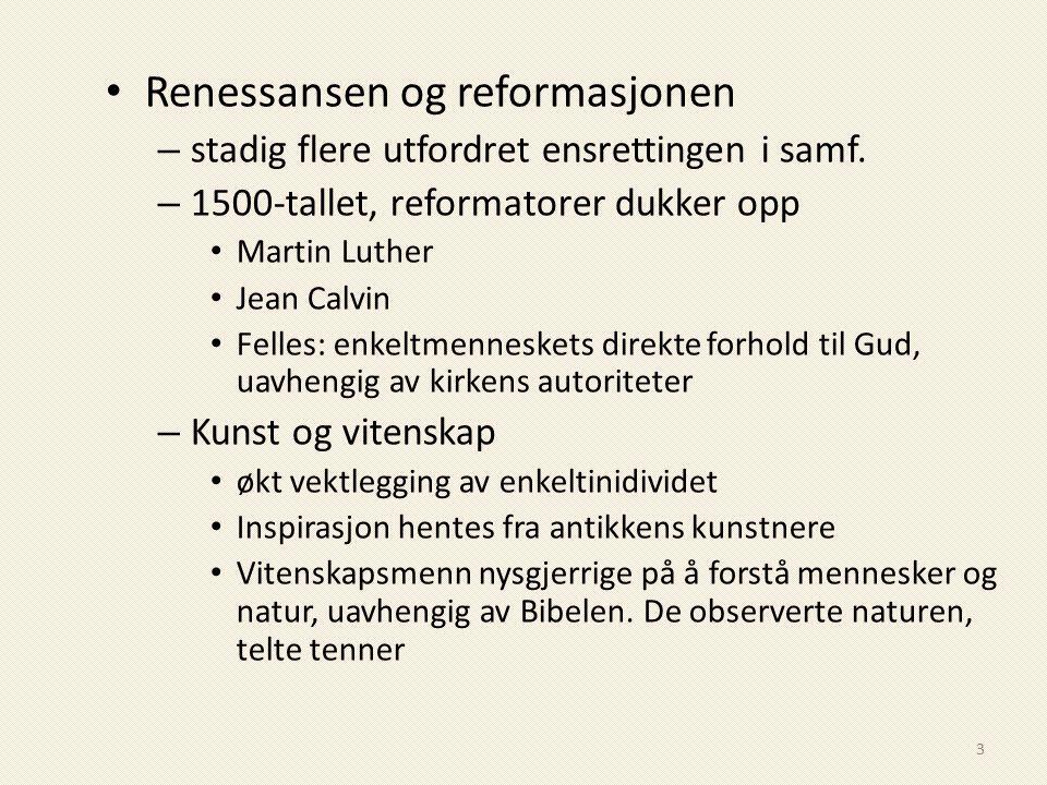 Renessansen og reformasjonen