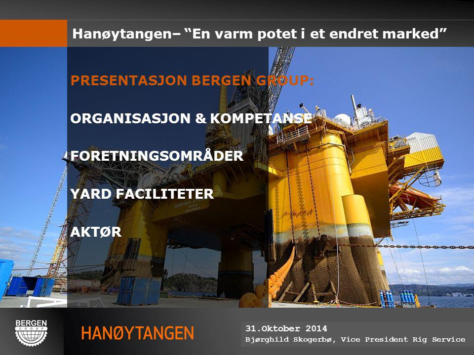 Hanøytangen– En varm potet i et endret marked