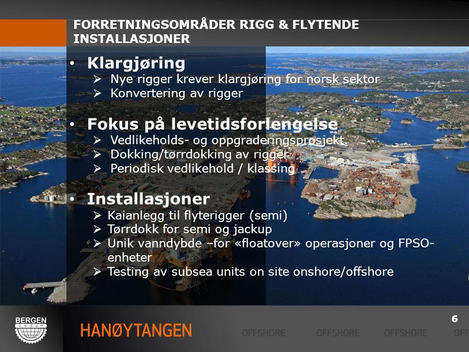 FORRETNINGSOMRÅDER RIGG & FLYTENDE INSTALLASJONER