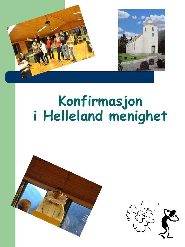 Konfirmasjon i Helleland menighet