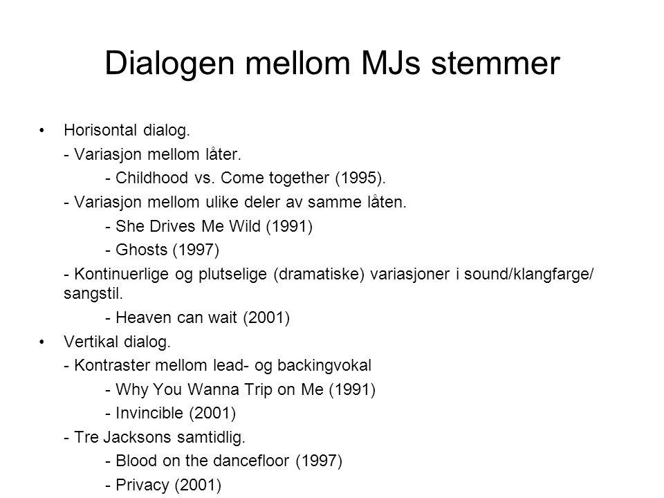 Dialogen mellom MJs stemmer