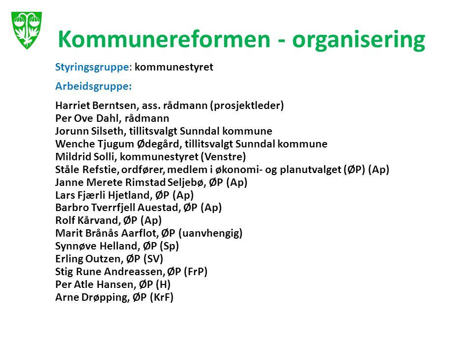 Kommunereformen - organisering