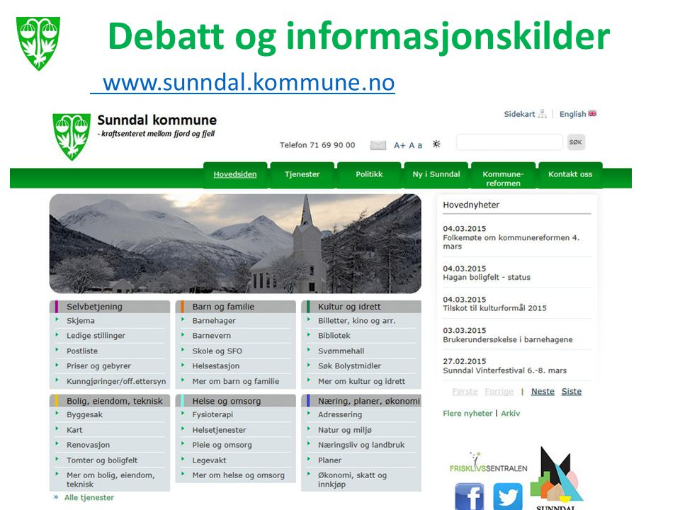 Debatt og informasjonskilder