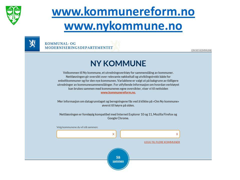 www.kommunereform.no www.nykommune.no