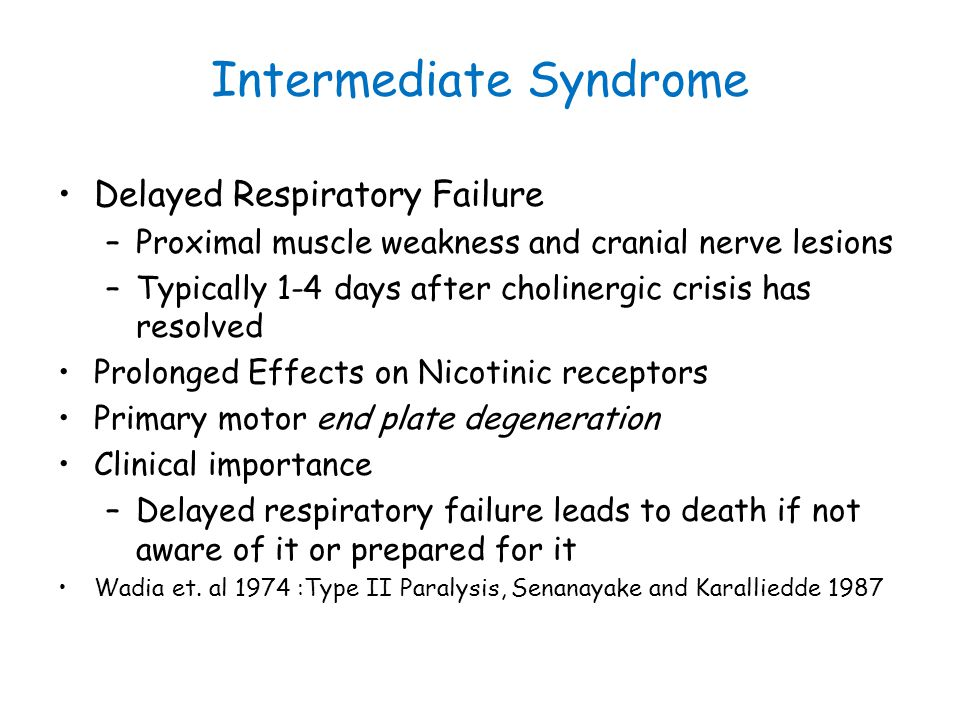 Intermediate Syndrome