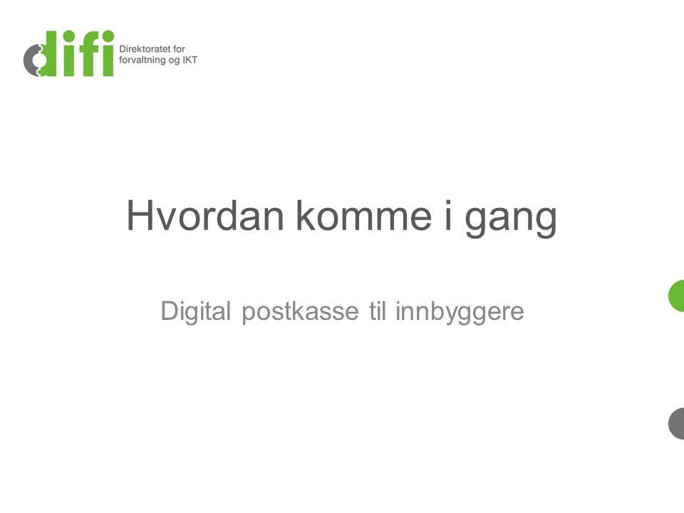 Digital postkasse til innbyggere