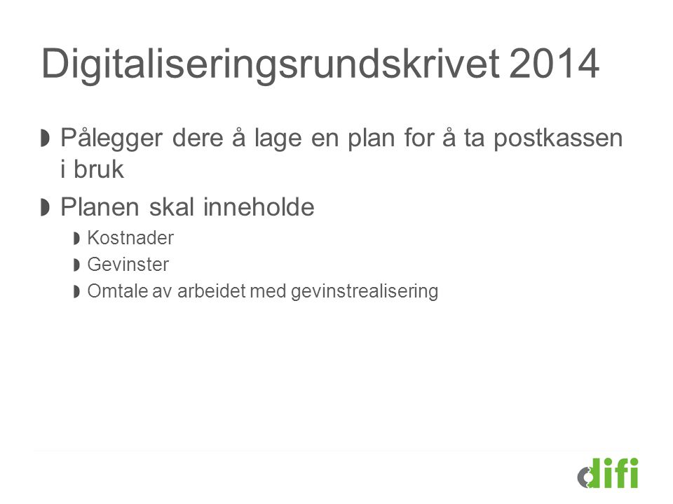 Digitaliseringsrundskrivet 2014