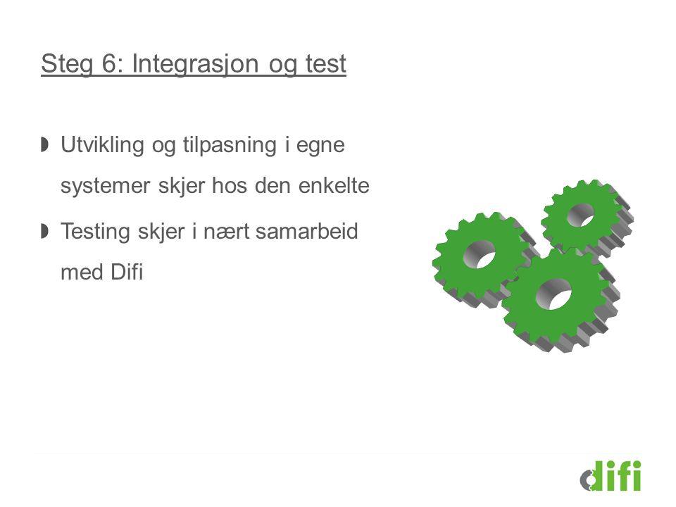 Steg 6: Integrasjon og test