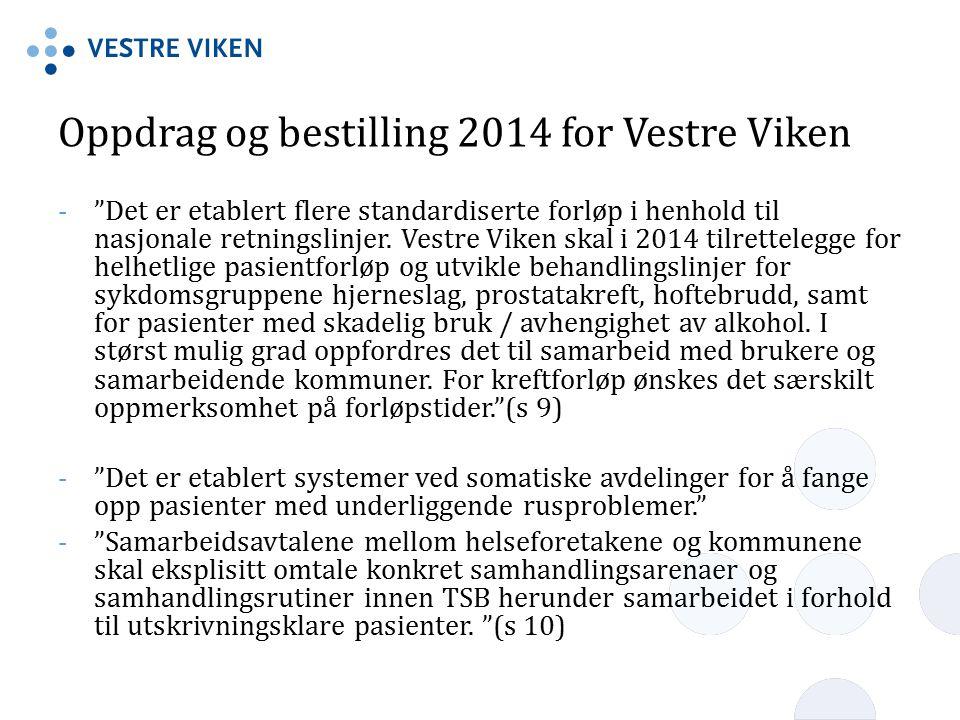Oppdrag og bestilling 2014 for Vestre Viken
