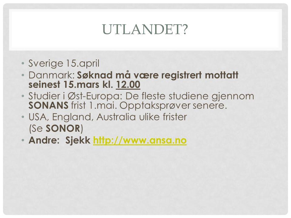 Utlandet Sverige 15.april