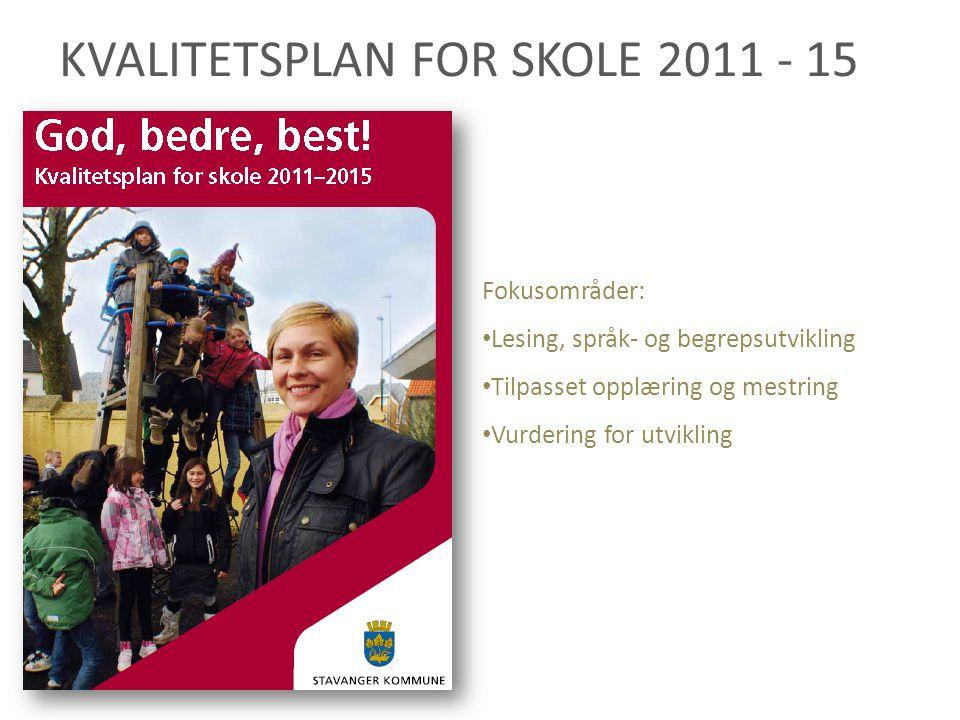 KVALITETSPLAN FOR SKOLE 2011 - 15