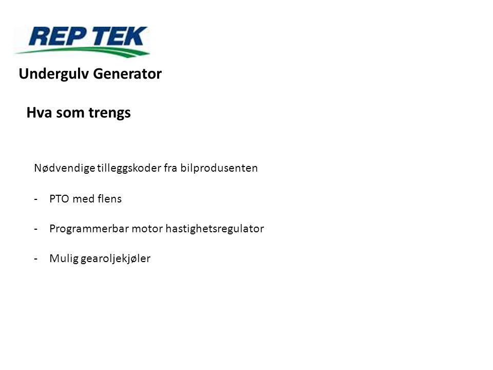 Undergulv Generator Hva som trengs