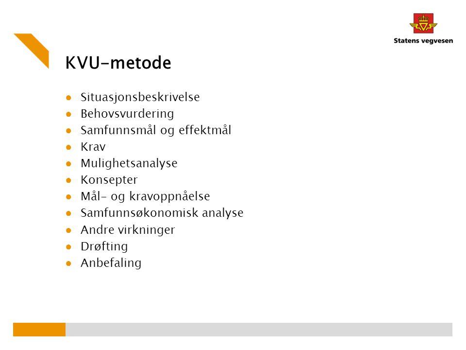 KVU-metode Situasjonsbeskrivelse Behovsvurdering