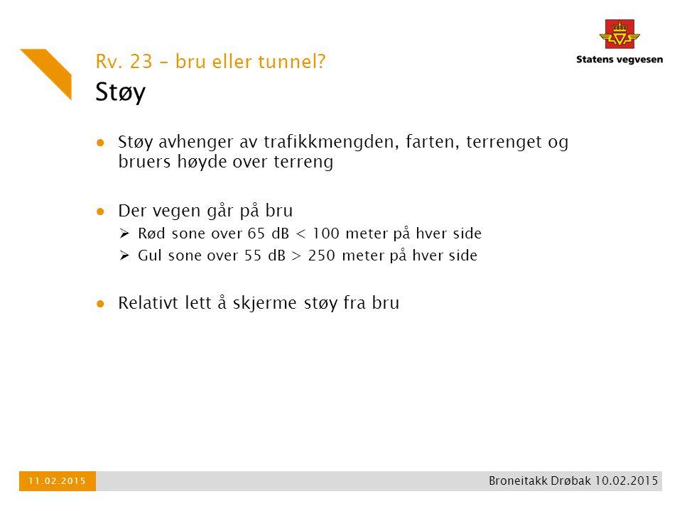 Støy Rv. 23 – bru eller tunnel