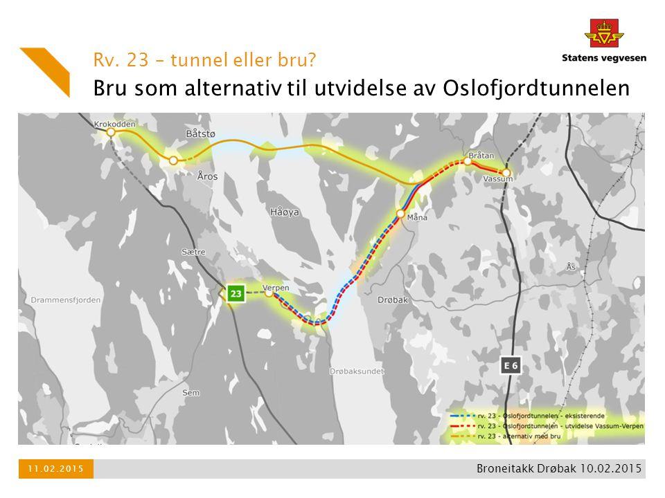 Bru som alternativ til utvidelse av Oslofjordtunnelen