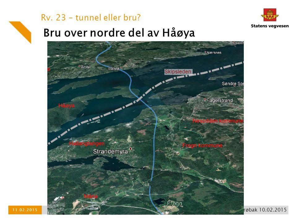 Bru over nordre del av Håøya