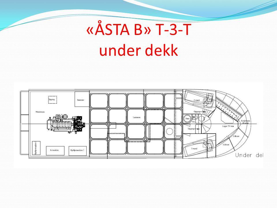 «ÅSTA B» T-3-T under dekk