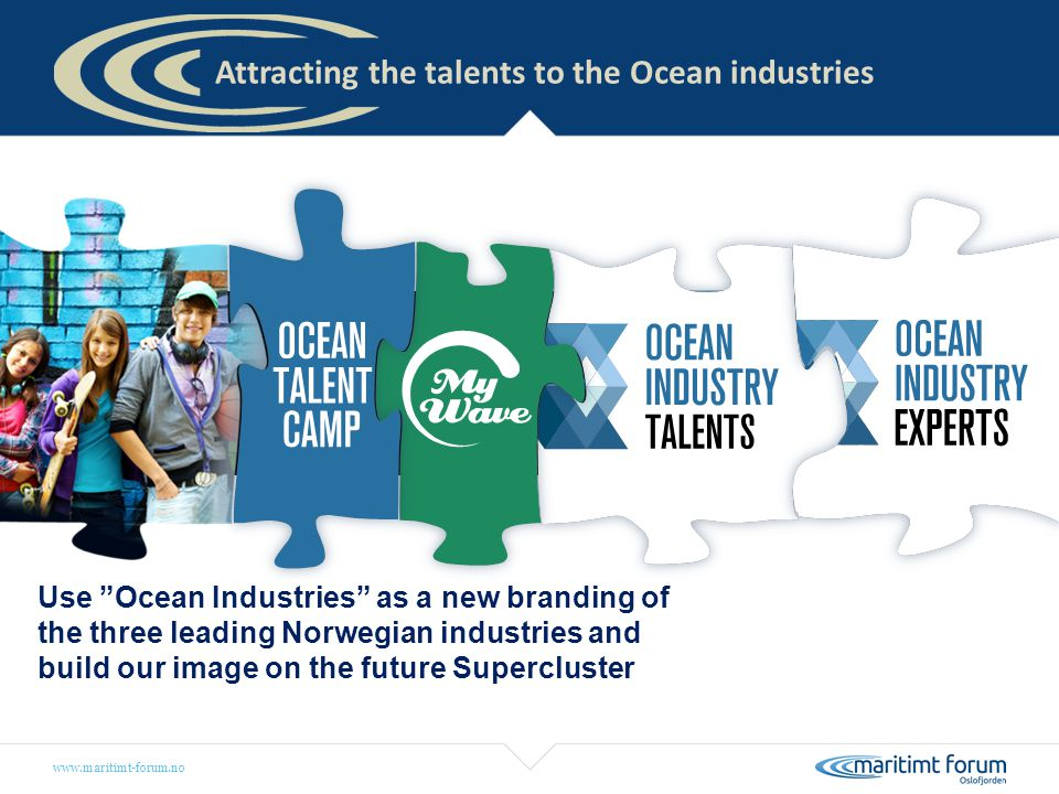 Attracting the talents to the Ocean industries
