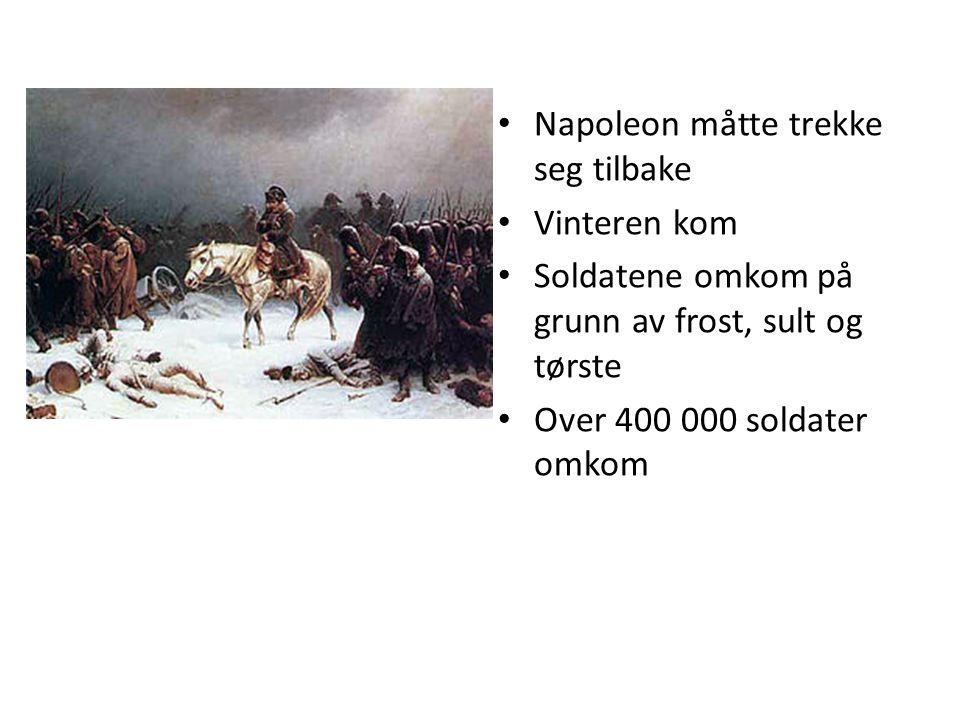 Napoleon måtte trekke seg tilbake