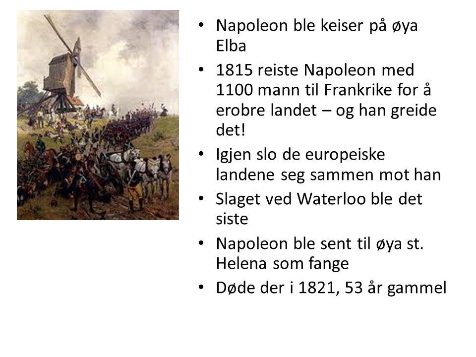 Napoleon ble keiser på øya Elba