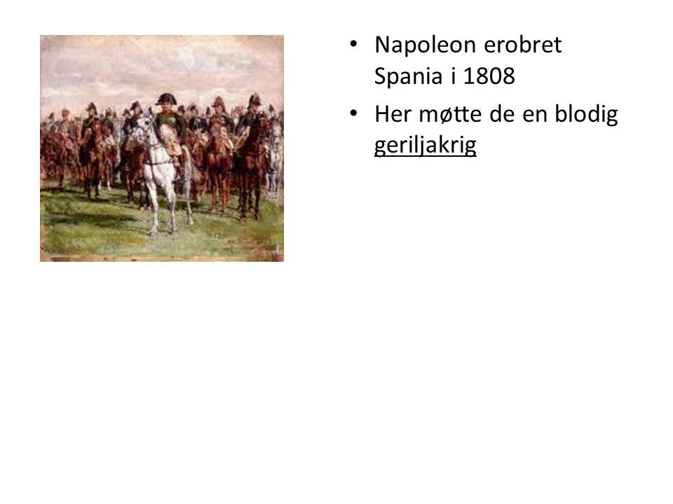 Napoleon erobret Spania i 1808