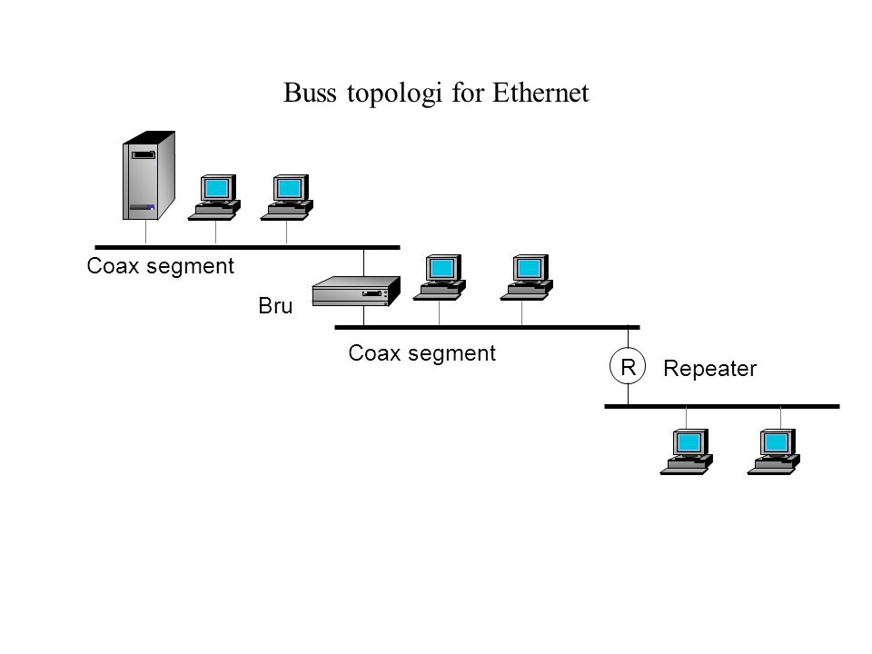 Buss topologi for Ethernet