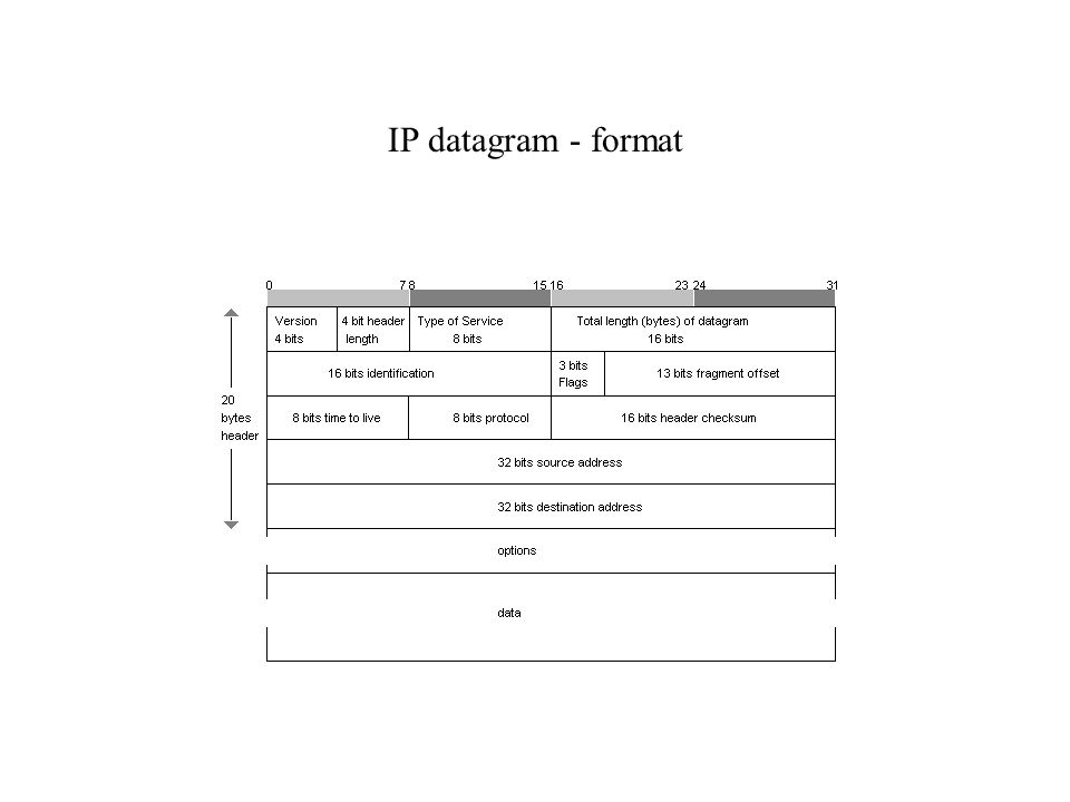 IP datagram - format