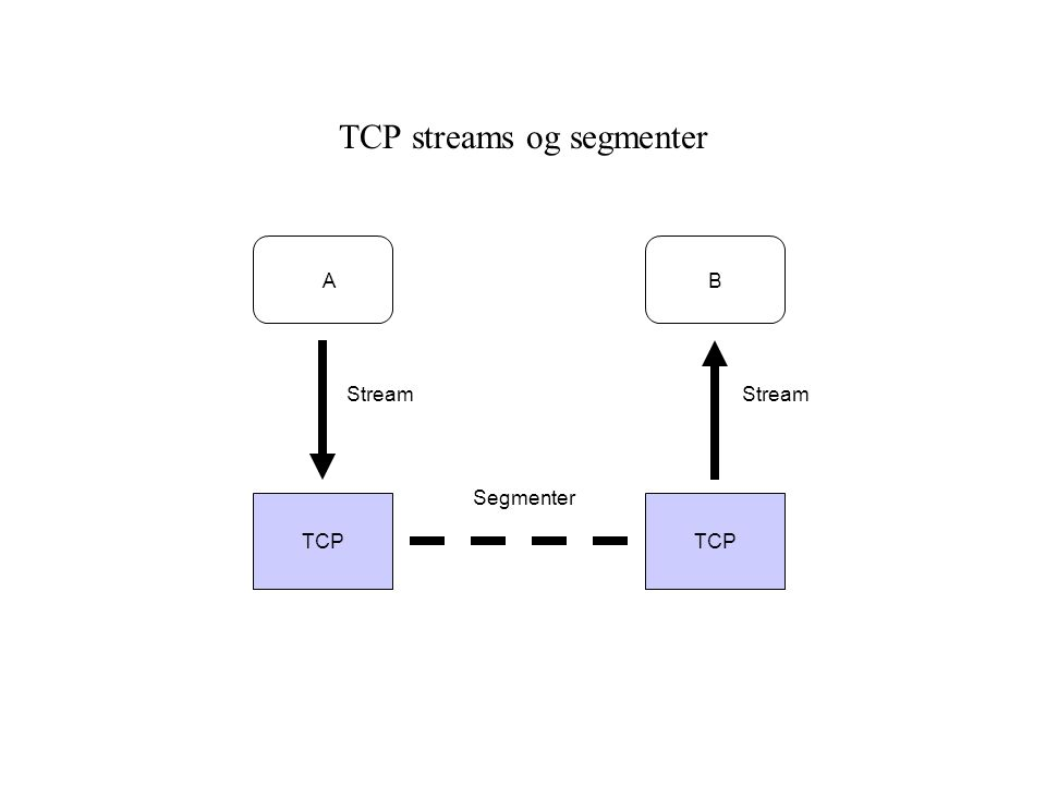 TCP streams og segmenter