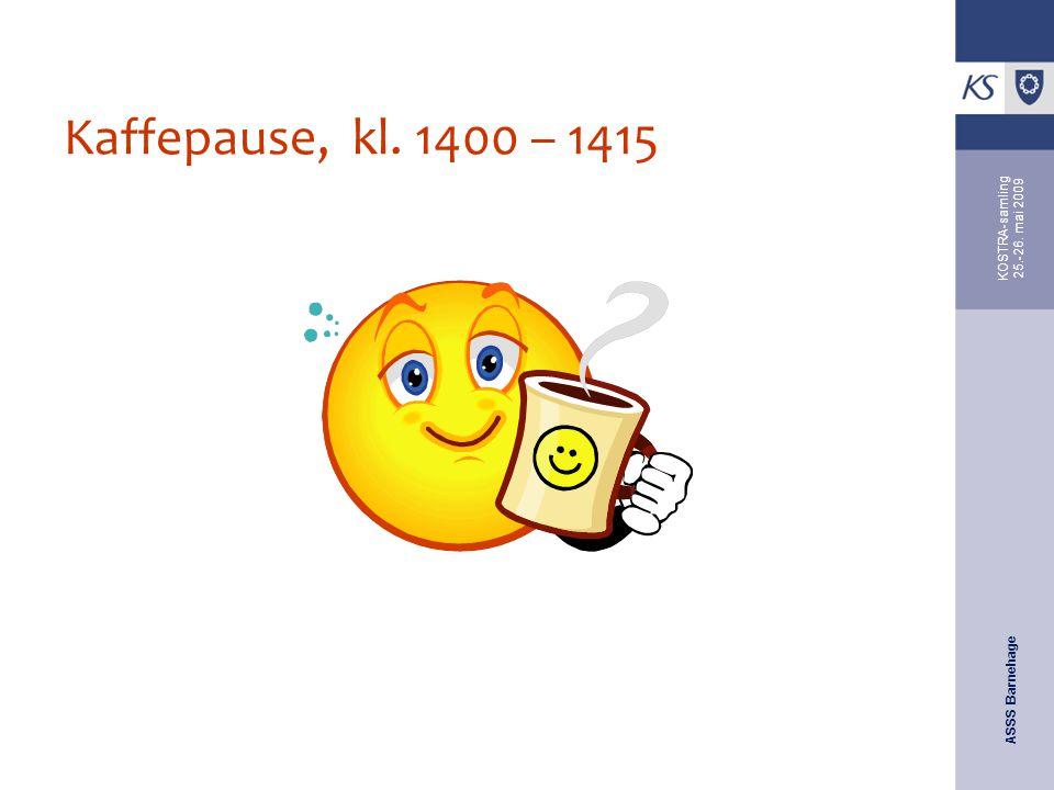 Kaffepause, kl. 1400 – 1415 KOSTRA-samling 25.-26. mai 2009