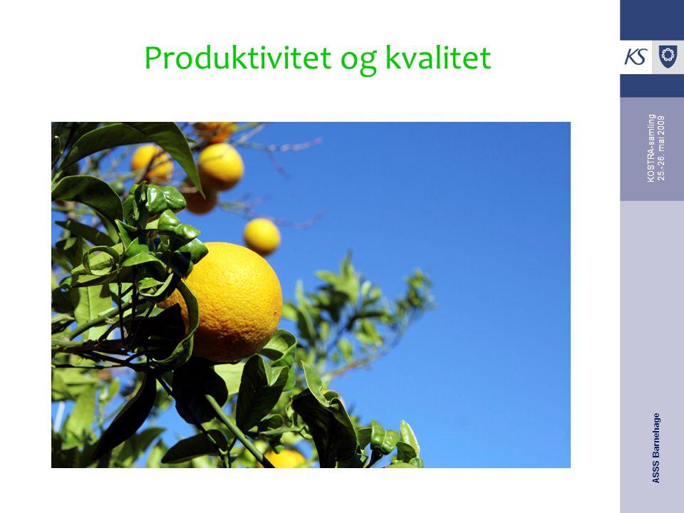 Produktivitet og kvalitet