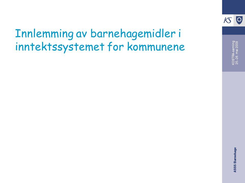 Innlemming av barnehagemidler i inntektssystemet for kommunene