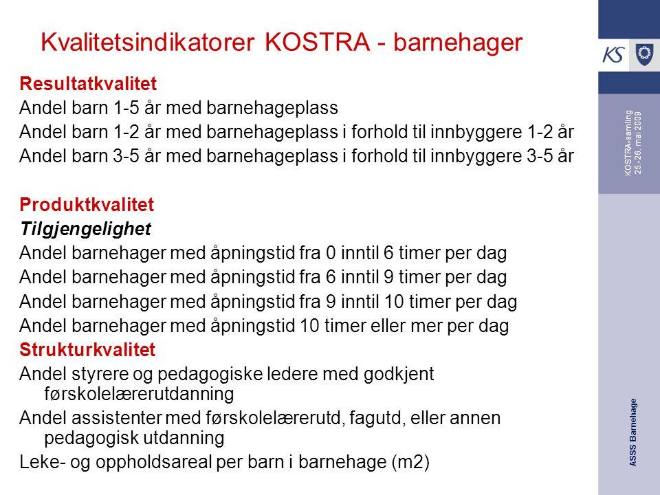 Kvalitetsindikatorer KOSTRA - barnehager