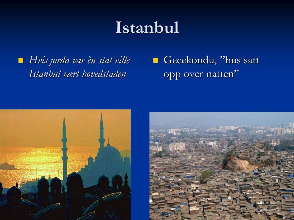 Istanbul Hvis jorda var èn stat ville Istanbul vært hovedstaden